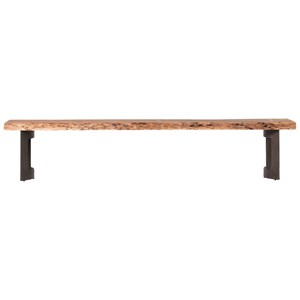 Large Dining Bench with Live Edge