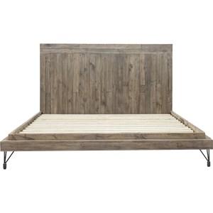King Rustic Industrial Bed
