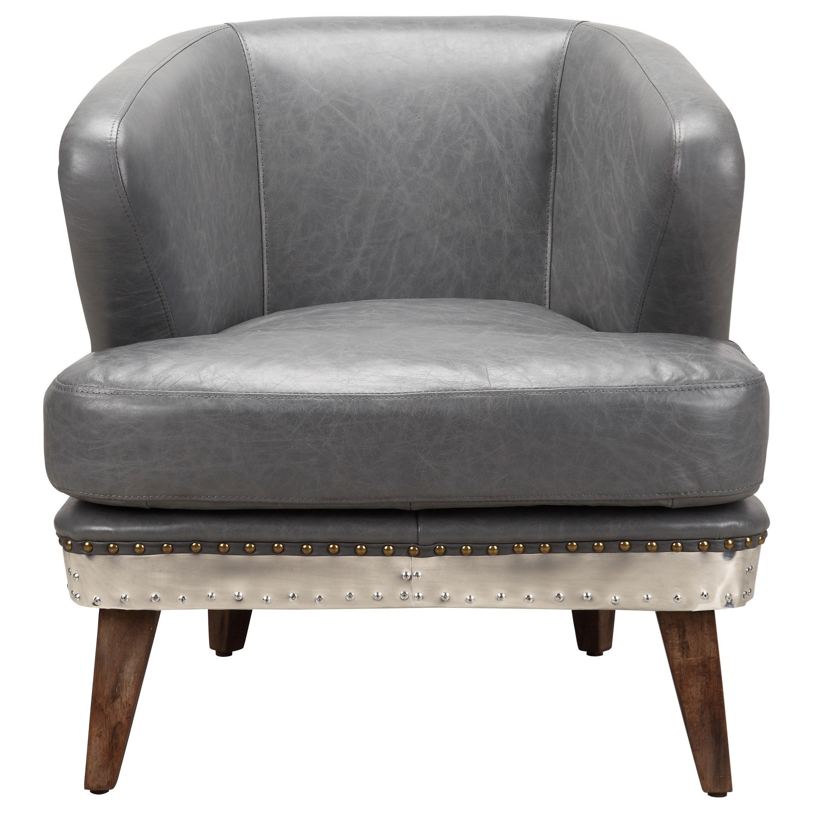 Cambridge Top Grain Leather Club Chair by Moe's Home Collection at Stoney Creek Furniture