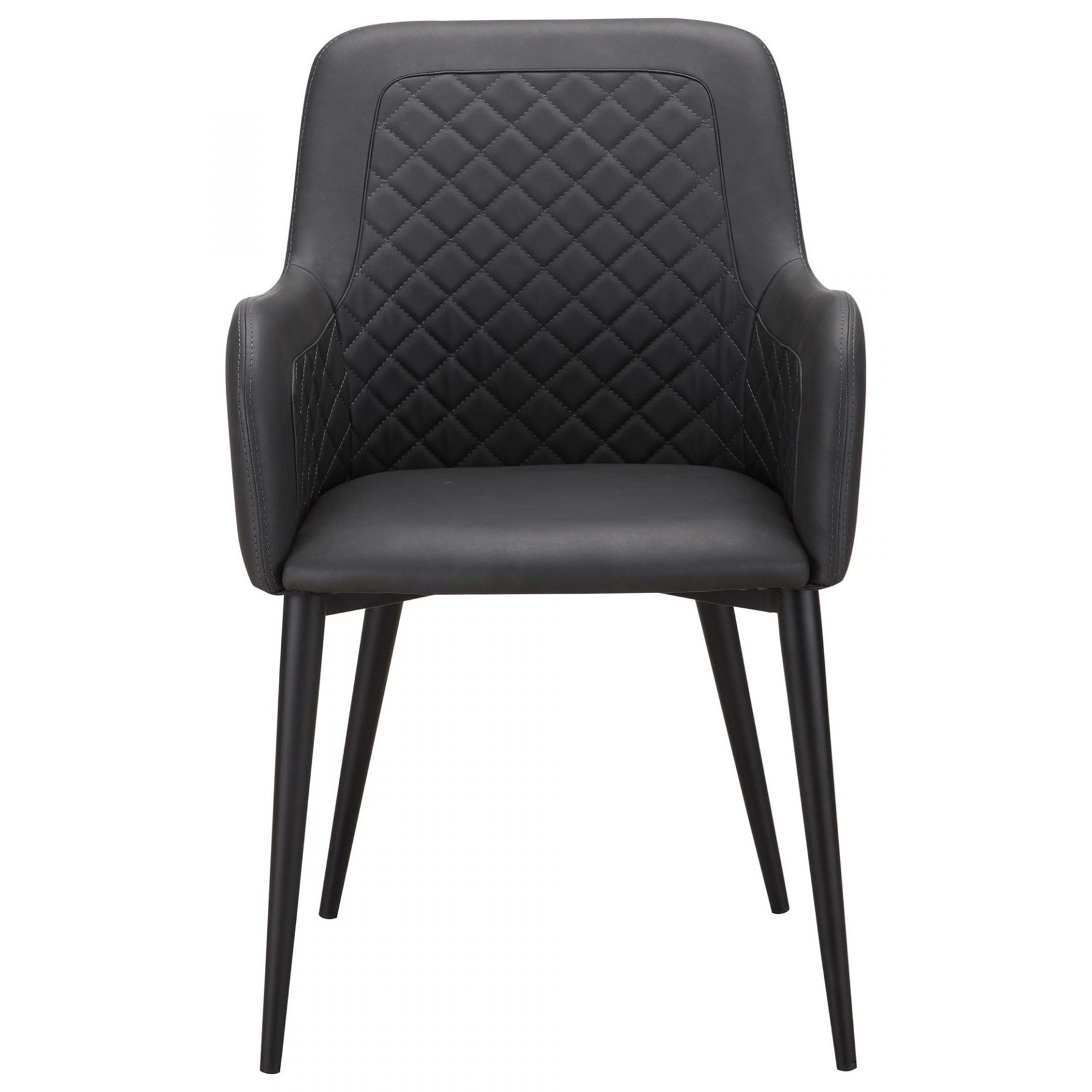 Cantata Quilted Faux Leather Dining Chair by Moe's Home Collection at Stoney Creek Furniture