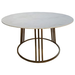 Glam Coffee Table with Marble Top