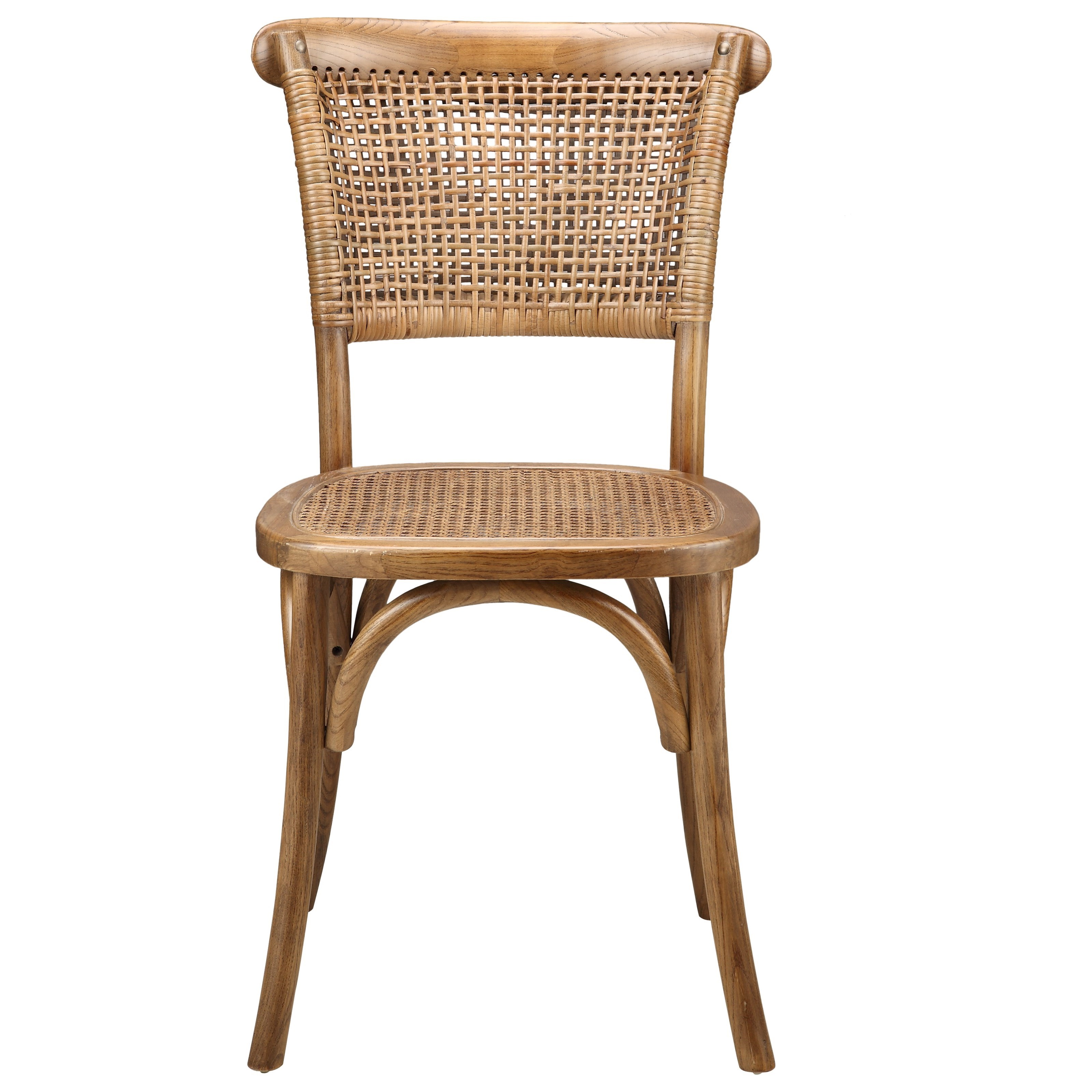 Churchill Dining Chairs with Rattan Seat by Moe's Home Collection at Stoney Creek Furniture