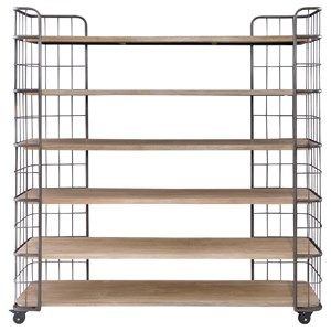 Open Book Shelf with Iron Frame