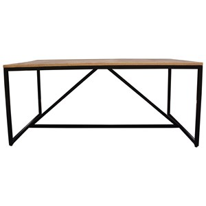 Solid Wood Top Rectangular Dining Table