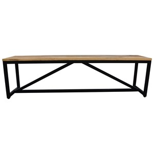 Bench with Solid Wood Top
