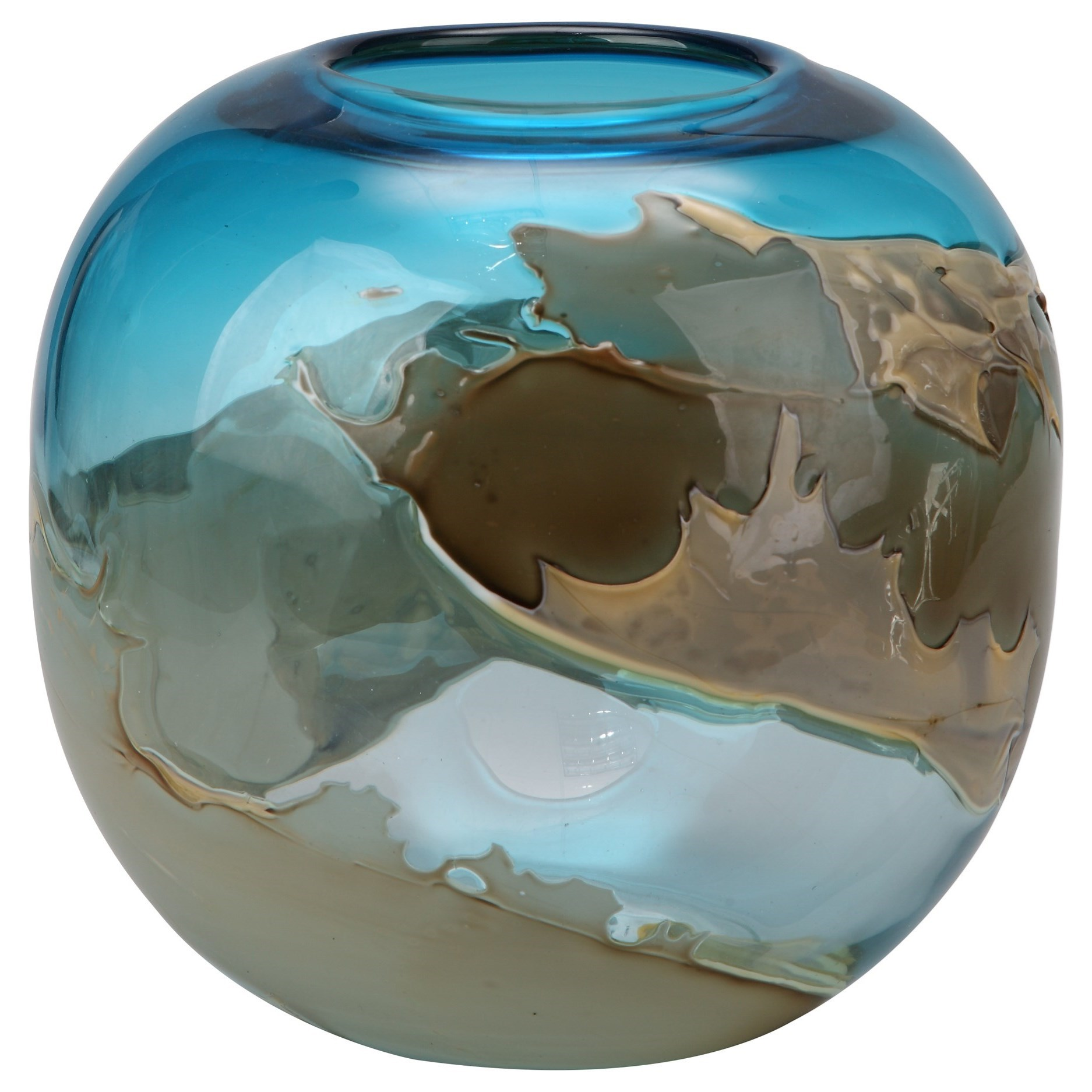 Vases & Urns Mystic Blue Vase Globe by Moe's Home Collection at Stoney Creek Furniture