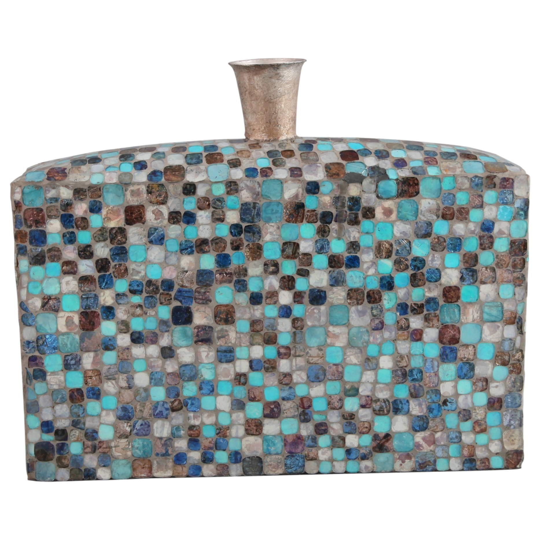 Vases & Urns Azul Mosaic Vase Low by Moe's Home Collection at Stoney Creek Furniture