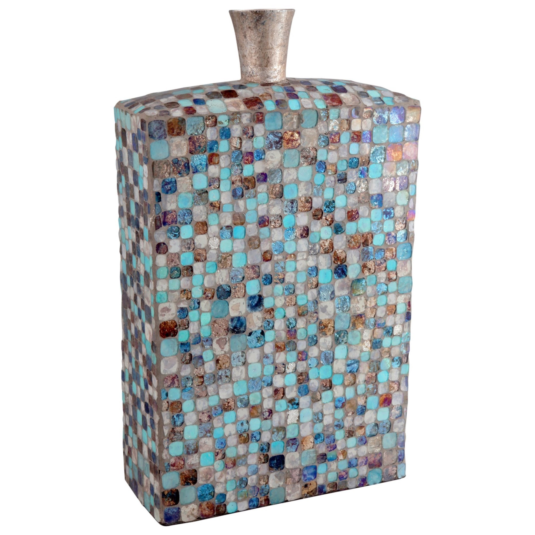Vases & Urns Azul Mosaic Vase Tall by Moe's Home Collection at Stoney Creek Furniture