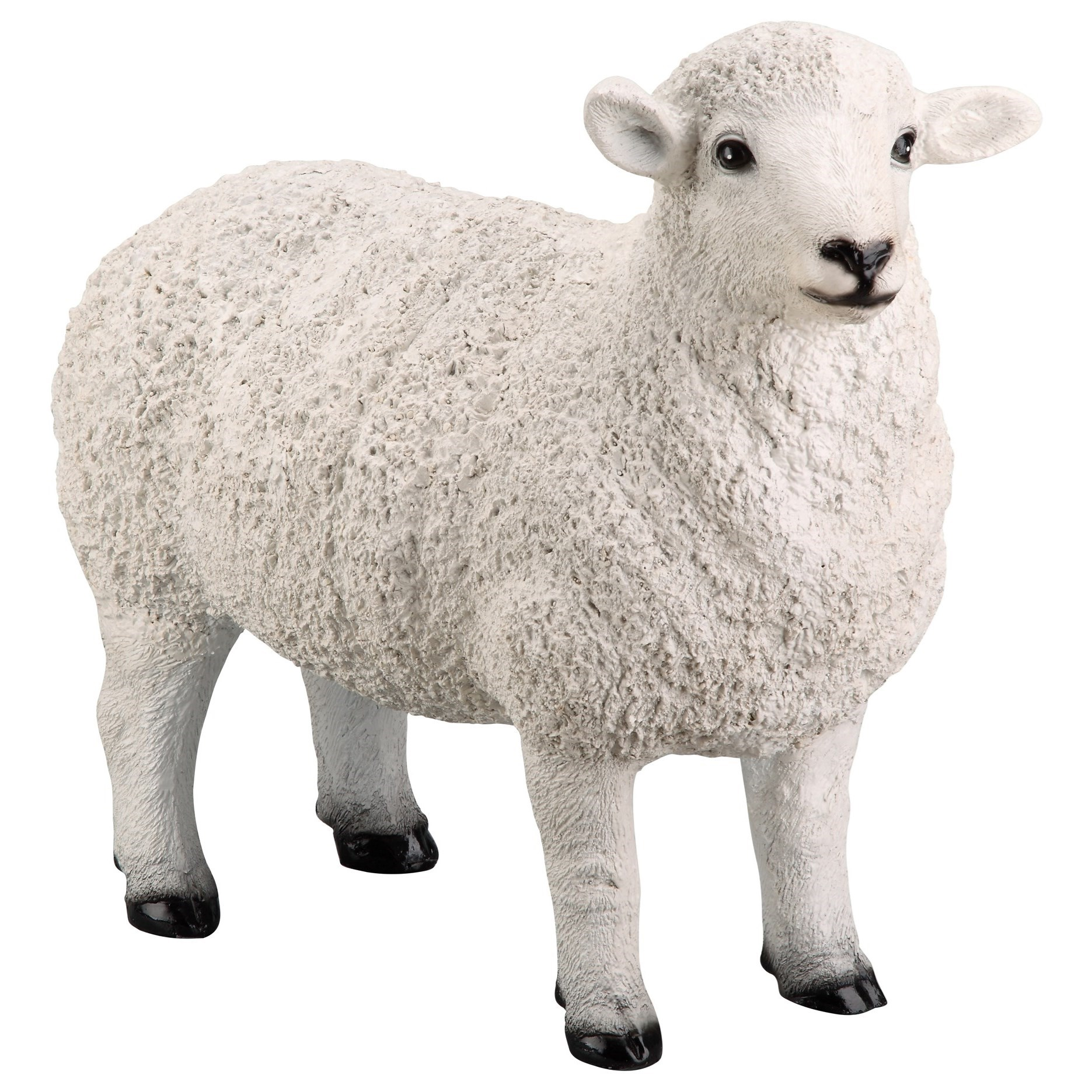 Sculptures Dolly Sheep Statue White by Moe's Home Collection at Stoney Creek Furniture