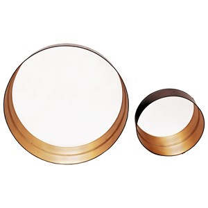 Golden Tray Mirrors Set Of Two