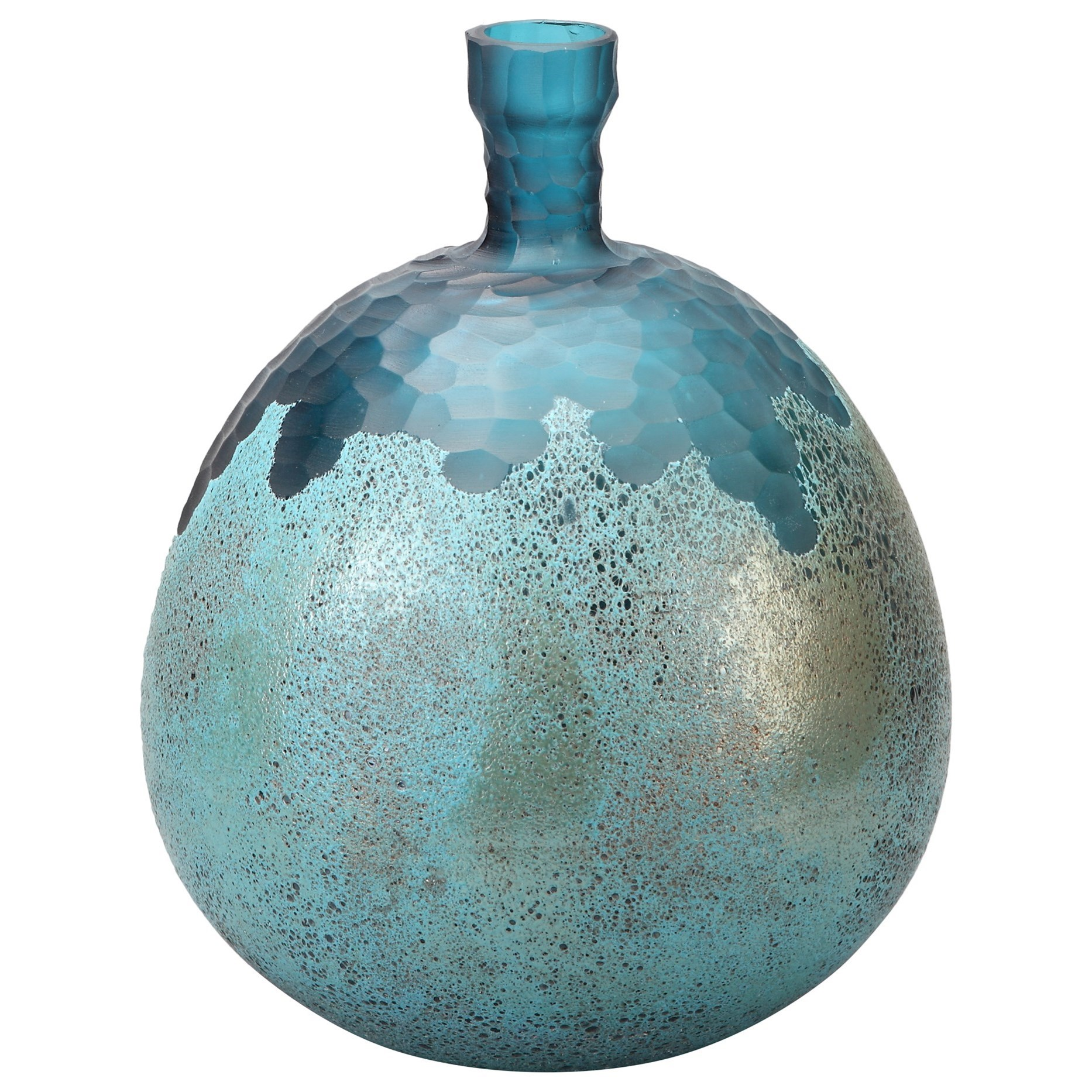 Vases & Urns Nix Vase Blue by Moe's Home Collection at Stoney Creek Furniture