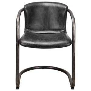 Freeman Dining Chair with Leather Seat