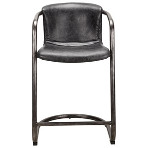 Freeman Counter Stool with Leather Seat