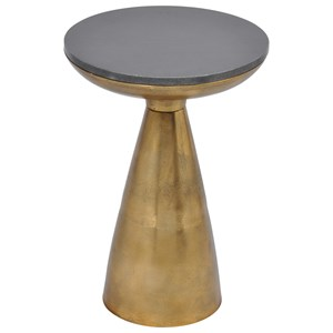 Aluminum Side Table with Granite Top