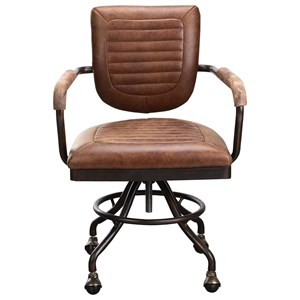 Industrial Leather Desk Chair