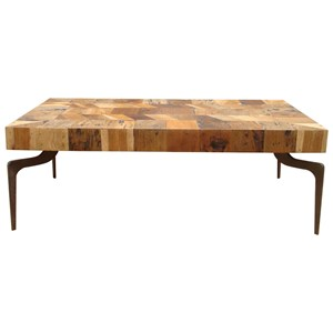 Reclaimed Coffee Table With Metal Legs