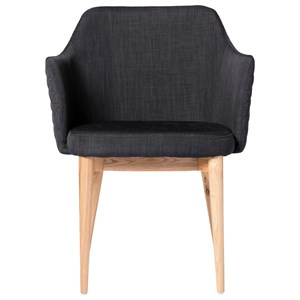 Glen Armchair with Tapered Wood Legs