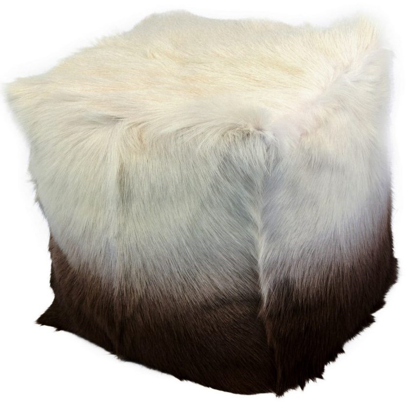 Goat Fur Pouf Cappuccino Ombre by Moe's Home Collection at Stoney Creek Furniture