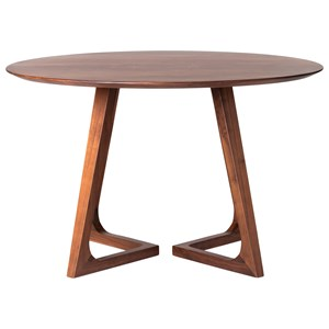 Round Mid-Century Modern Dining Table