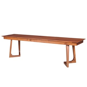 Walnut Bench with Angled Pedestals