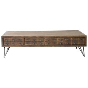Reclaimed Wood Rectangular Coffee Table