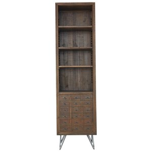 Reclaimed Wood Bookcase with 6 Shelves
