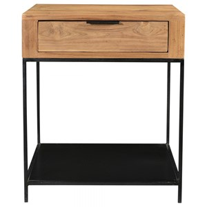 Contemporary 1-Drawer Side Table