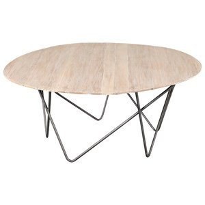 Contemporary Coffee Table with Hairpin Iron Legs