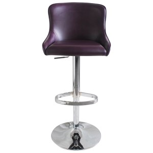 Transitional Bar Stool with Adjustable Seating