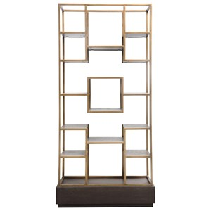 Contemporary Bookcase with 15 Shelves