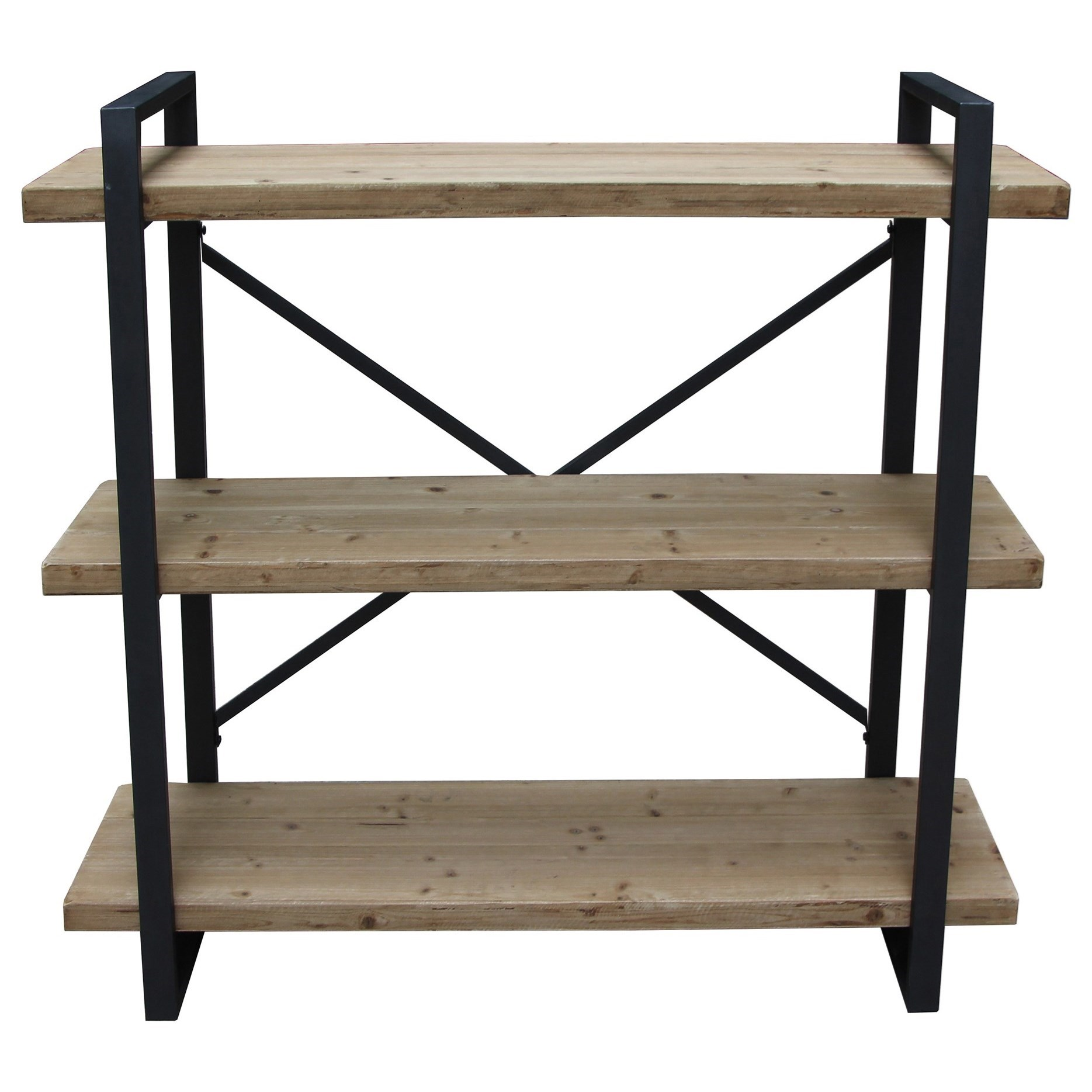 Lex 3 Level Shelf Natural by Moe's Home Collection at Wilson's Furniture
