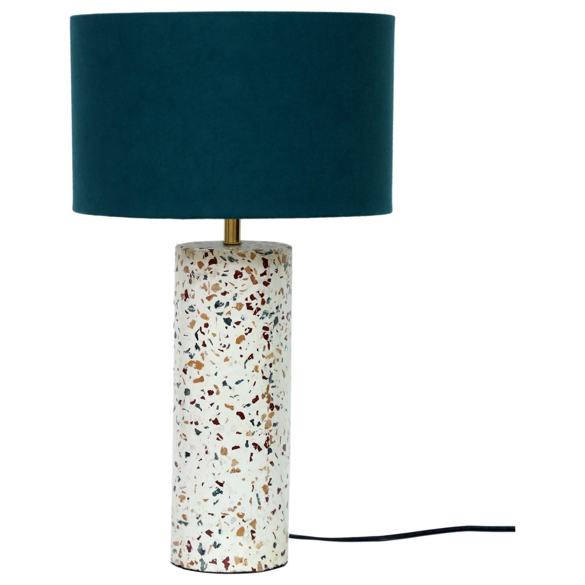 Lighting Terrazzo Cylinder Table Lamp at Sadler's Home Furnishings