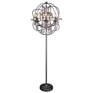 Adelina Floor Lamp with Iron and Chinese Crystal