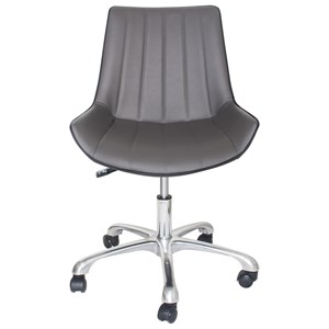Transitional Office Task Chair with Adjustable Base