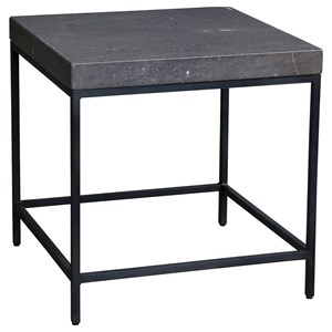 Contemporary Side Table with Marble Top