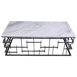 Contemporary Coffee Table with Marble Top