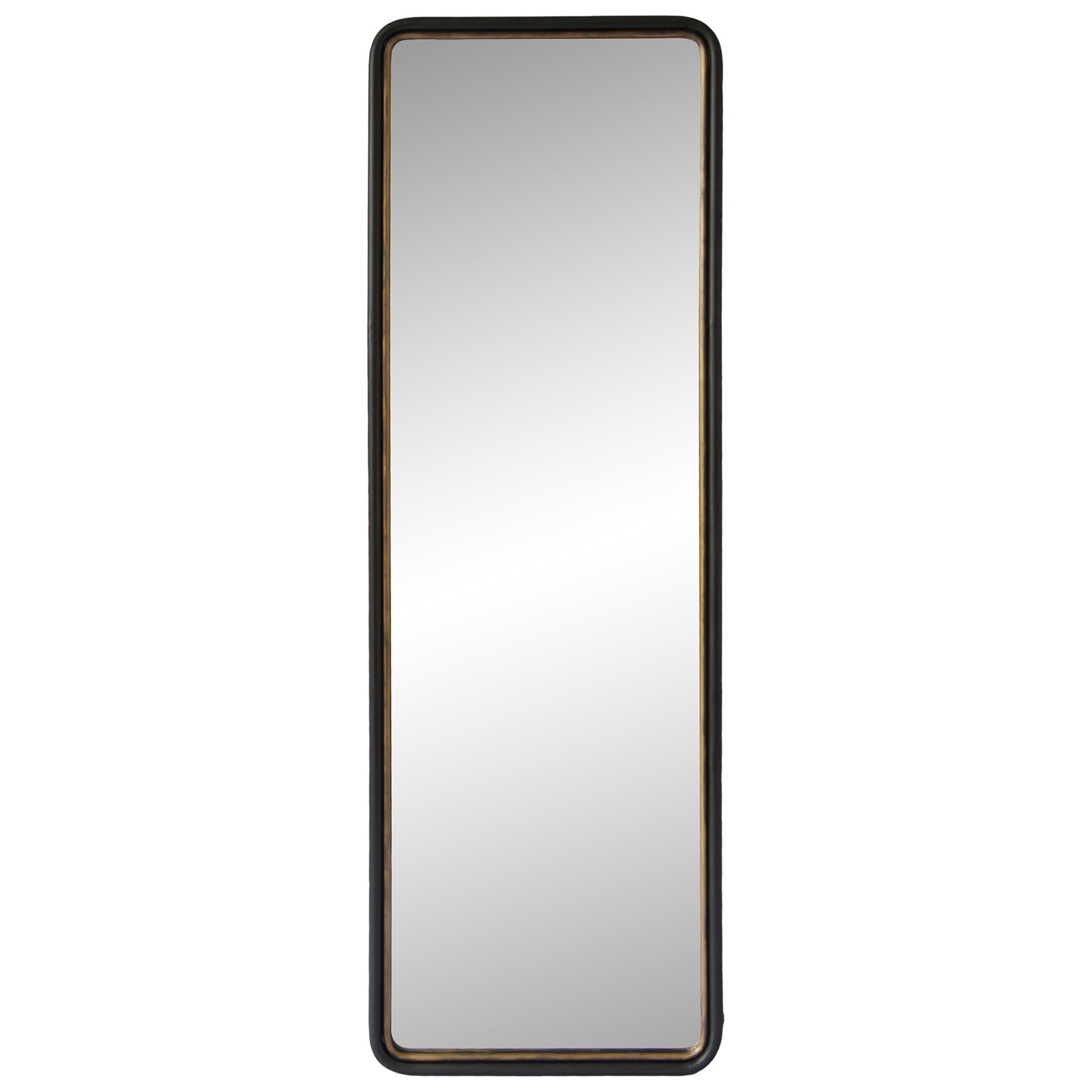 Mirrors and Screens Sax Tall Mirror with Brushed Gold Details by Moe's Home Collection at Reid's Furniture