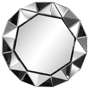 Glacier Mirror with Mirrored Frame