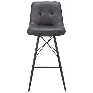 Contemporary Bar Stool with Upholstered Seat and Back
