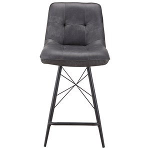 Contemporary Counter Stool with with Upholstered Seat and Back