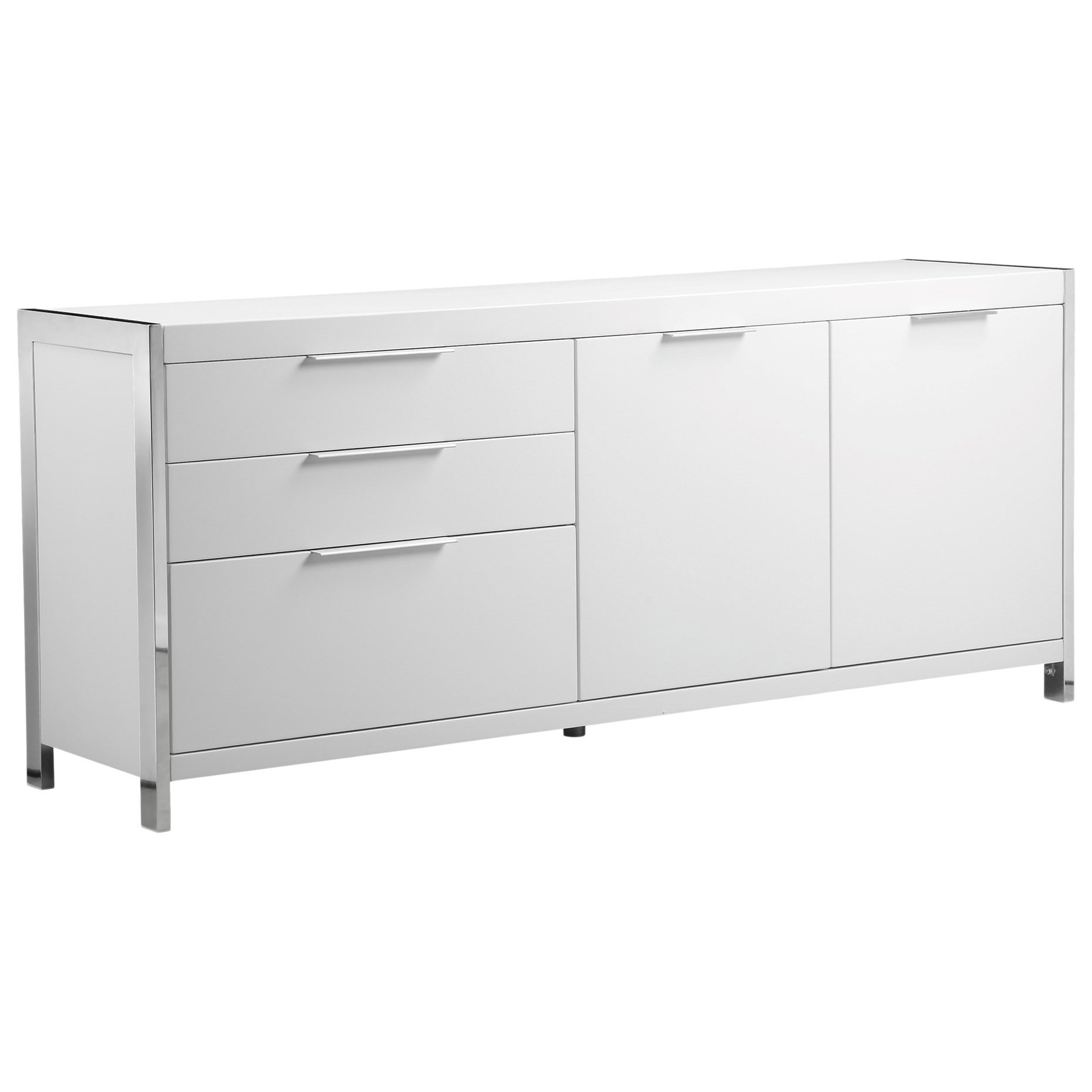 Neo Sideboard White by Moe's Home Collection at Stoney Creek Furniture