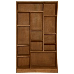 Cube Bookcase With Curved Left Side