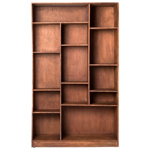 Cube Bookcase With Curved Right Side