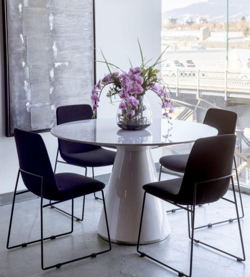 Otago Dining Table Round by Moe's Home Collection at Stoney Creek Furniture