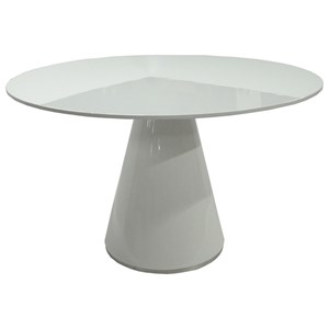 Contemporary 47-Inch Round Pedestal Table