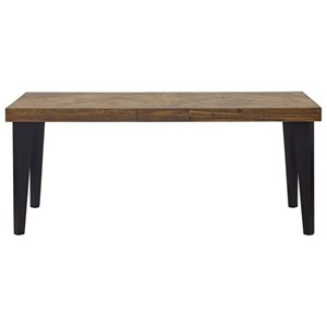 Rectangular Dining Table with Parquet Top