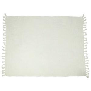Lemmy Heavy Linen Throw Ivory