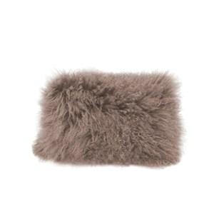 Lamb Fur Pillow Grey