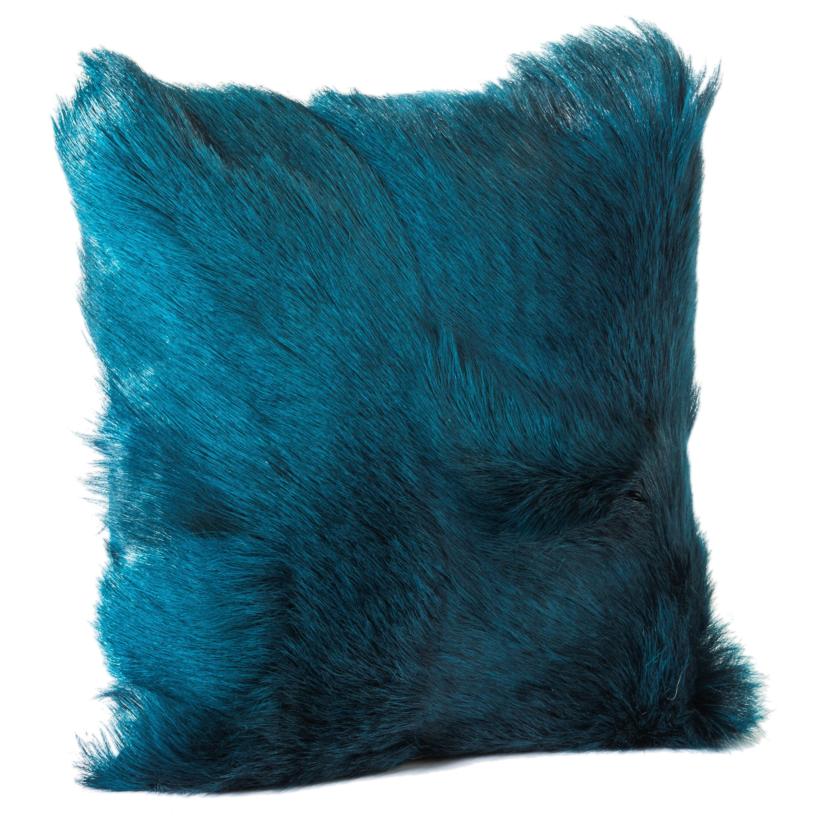 Pillows and Throws Goat Fur Pillow Teal by Moe's Home Collection at Stoney Creek Furniture