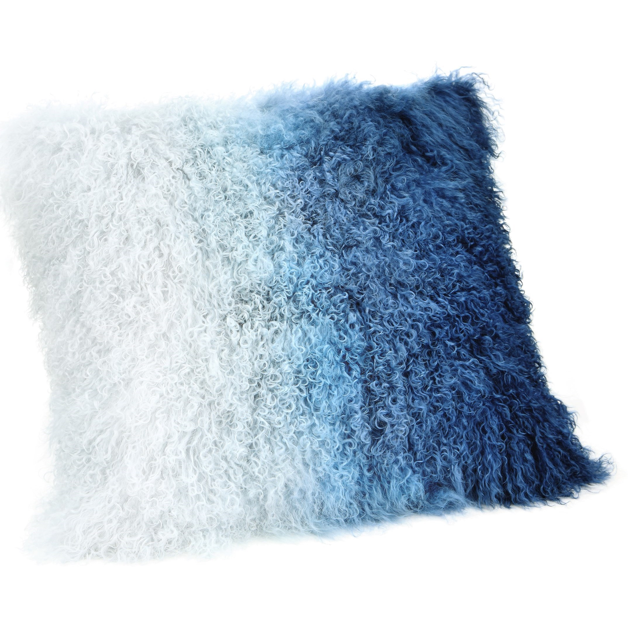 Pillows and Throws Lamb Fur Pillow Blue Spectrum by Moe's Home Collection at Stoney Creek Furniture